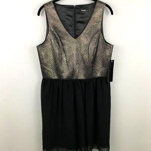 Kensie Dress 10 Cocktail Metallic V-Neck Sleeveles